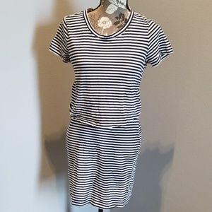 Navy/White Stripe Stretchy Summer Dress